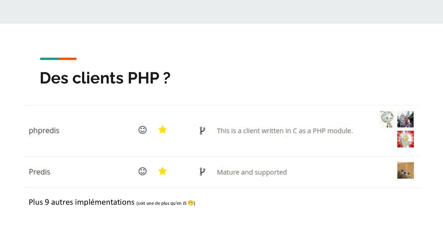 Des Data Structures & Des Commandes ● Keys ● St...