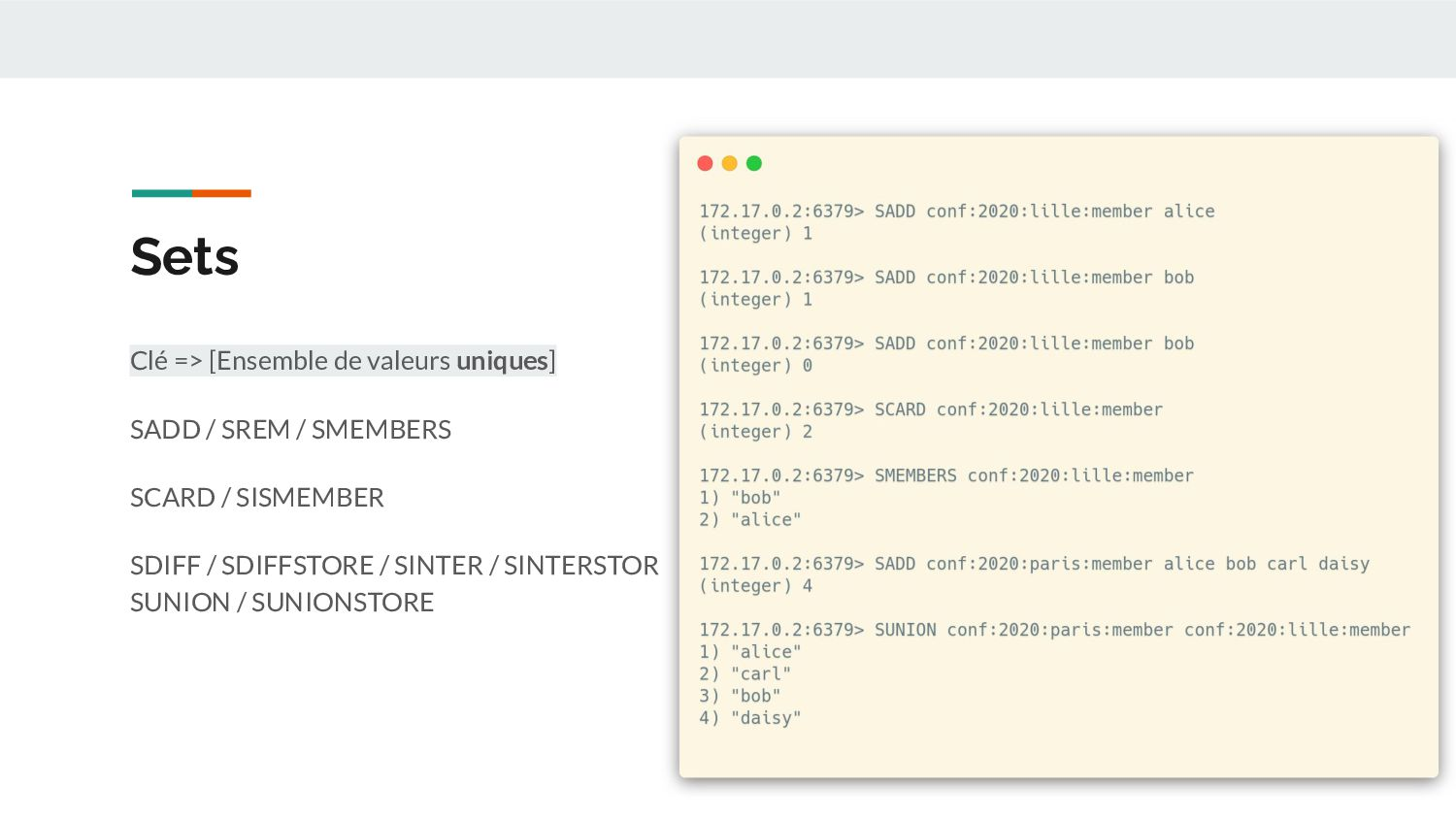 Sets - Use Cases Tracking d'utilisateurs Travai...