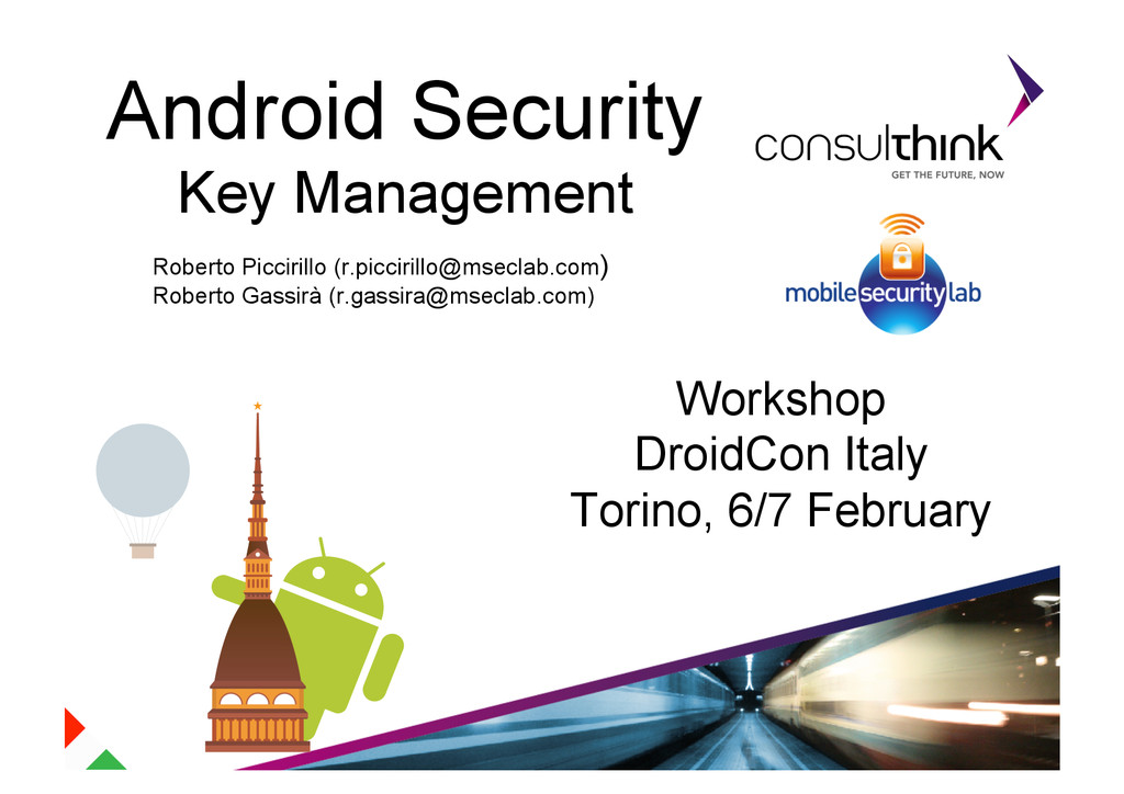 Android Security Key Management Roberto Picciri...