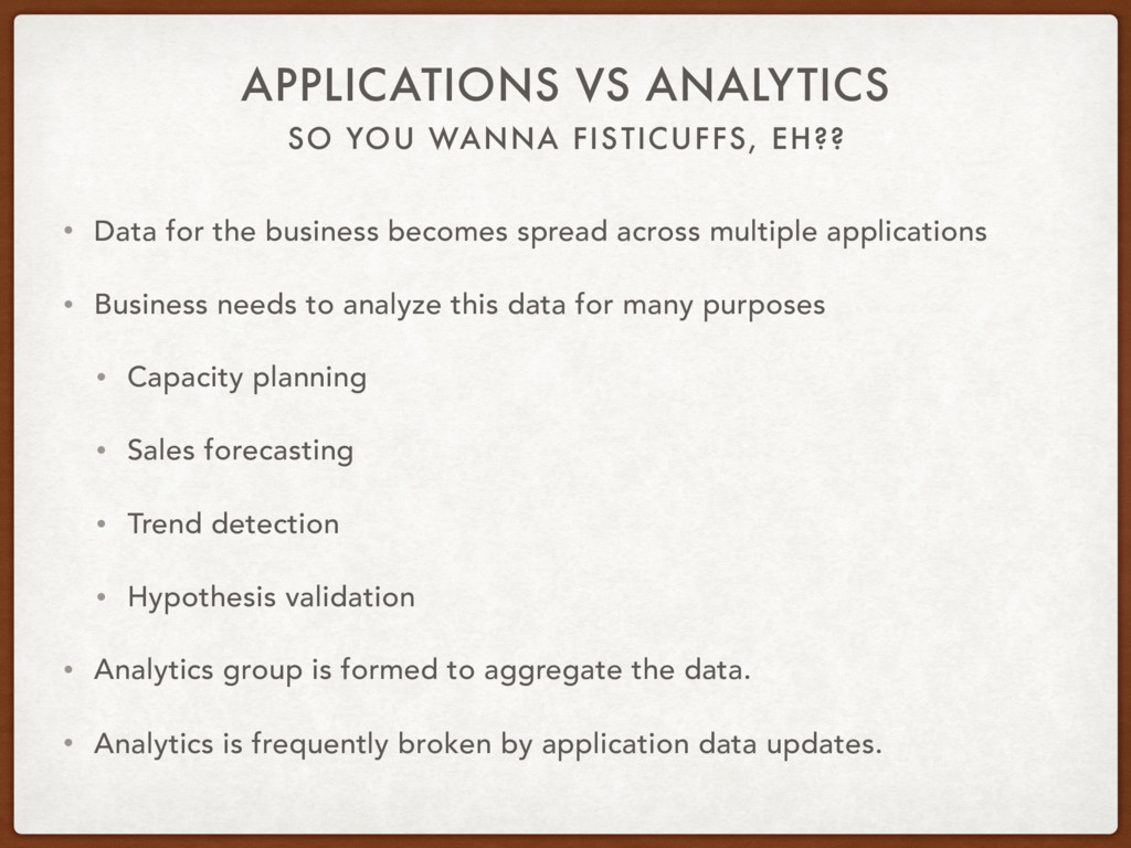 SO YOU WANNA FISTICUFFS, EH?? APPLICATIONS VS A...