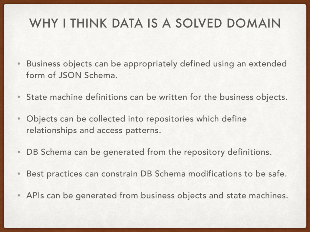WHY I THINK DATA IS A SOLVED DOMAIN • Business ...
