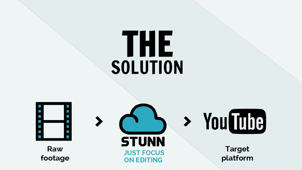 Raw footage Target platform THE SOLUTION JUST F...