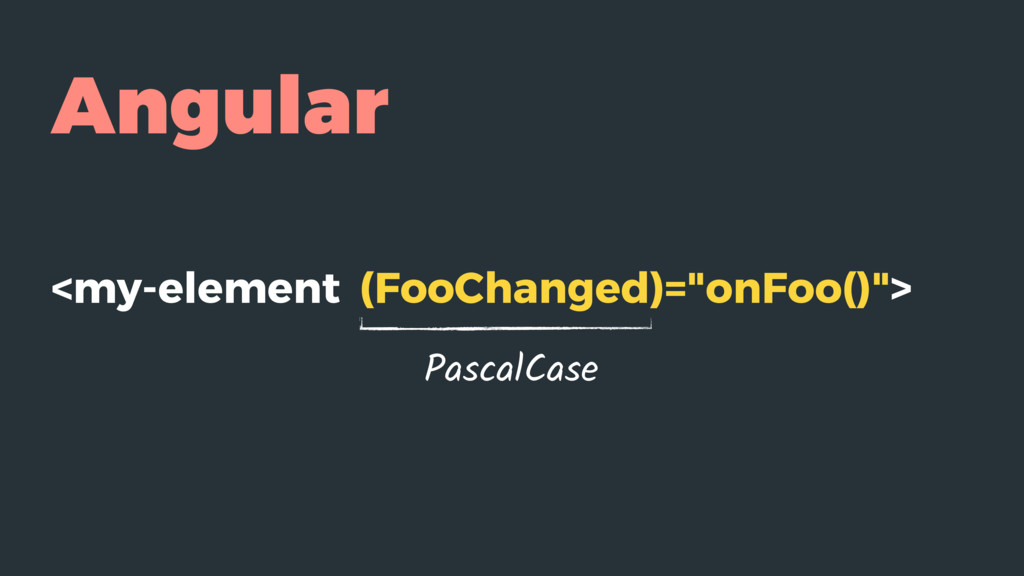 "Angular <my-element (FooChanged)=""onFoo()""> Pas..."