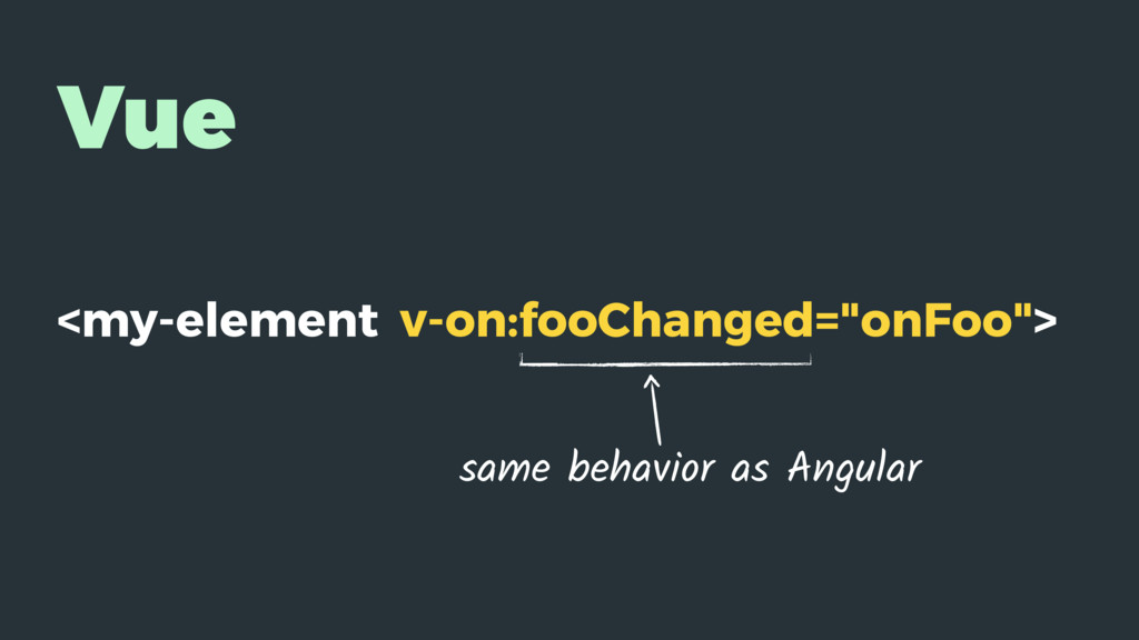 "Vue <my-element v-on:fooChanged=""onFoo""> same b..."