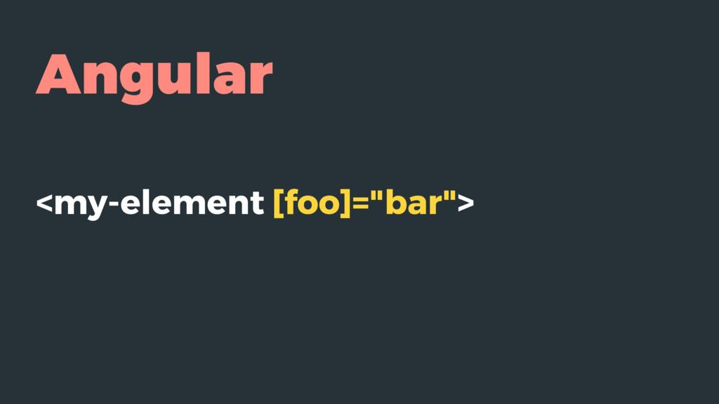 "Angular <my-element [foo]=""bar"">"