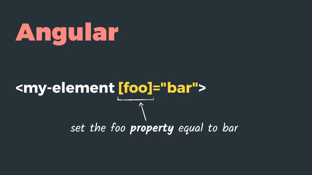 "Angular <my-element [foo]=""bar""> set the foo pr..."