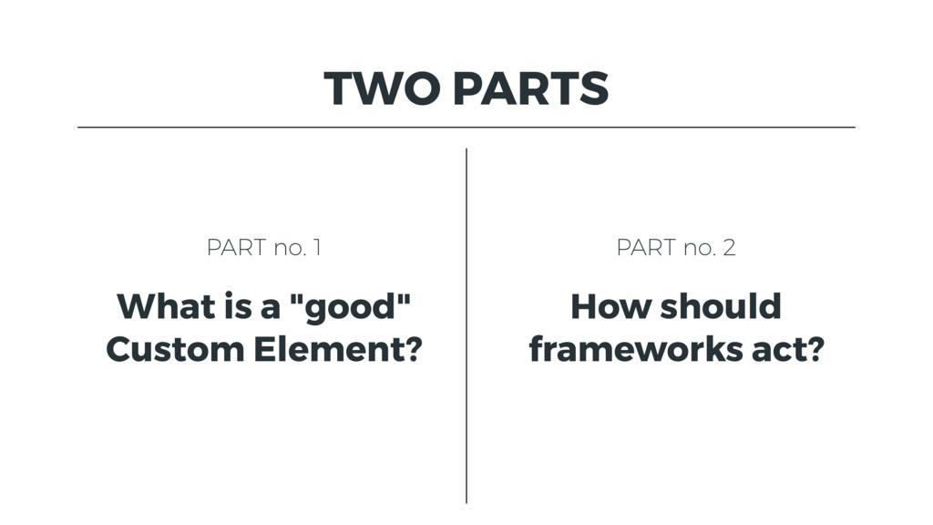 """TWO PARTS PART no. 1 What is a """"good"""" Custom El..."""