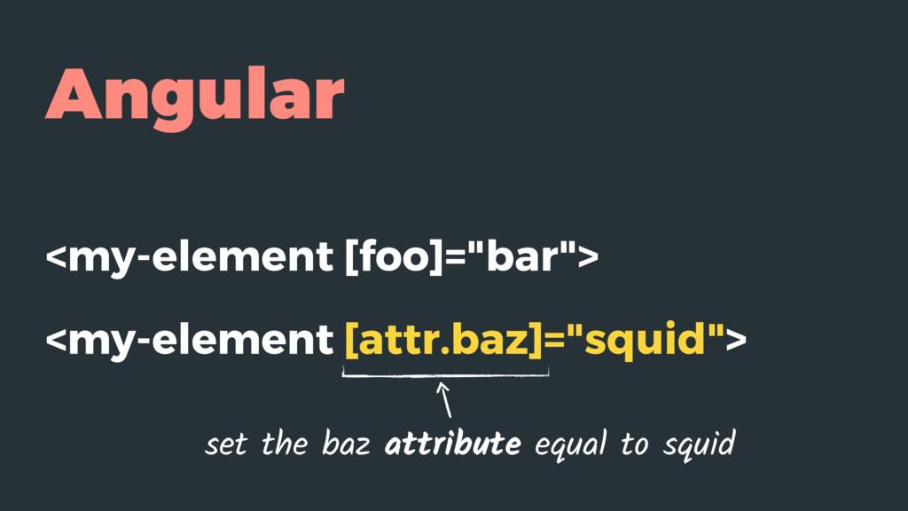 "Angular <my-element [foo]=""bar""> <my-element [a..."