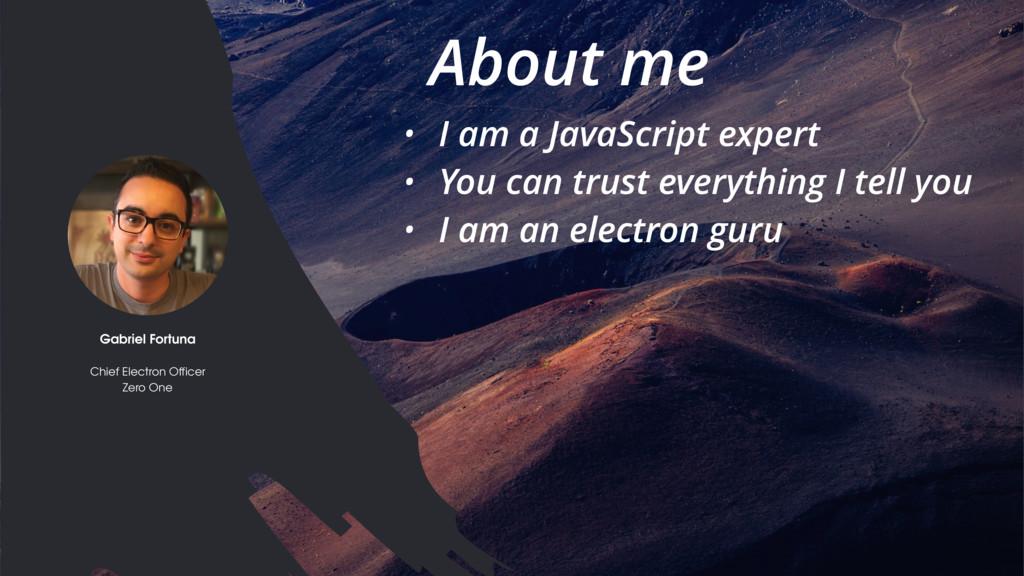 Electron // JSinSA 2016 • I am a JavaScript exp...