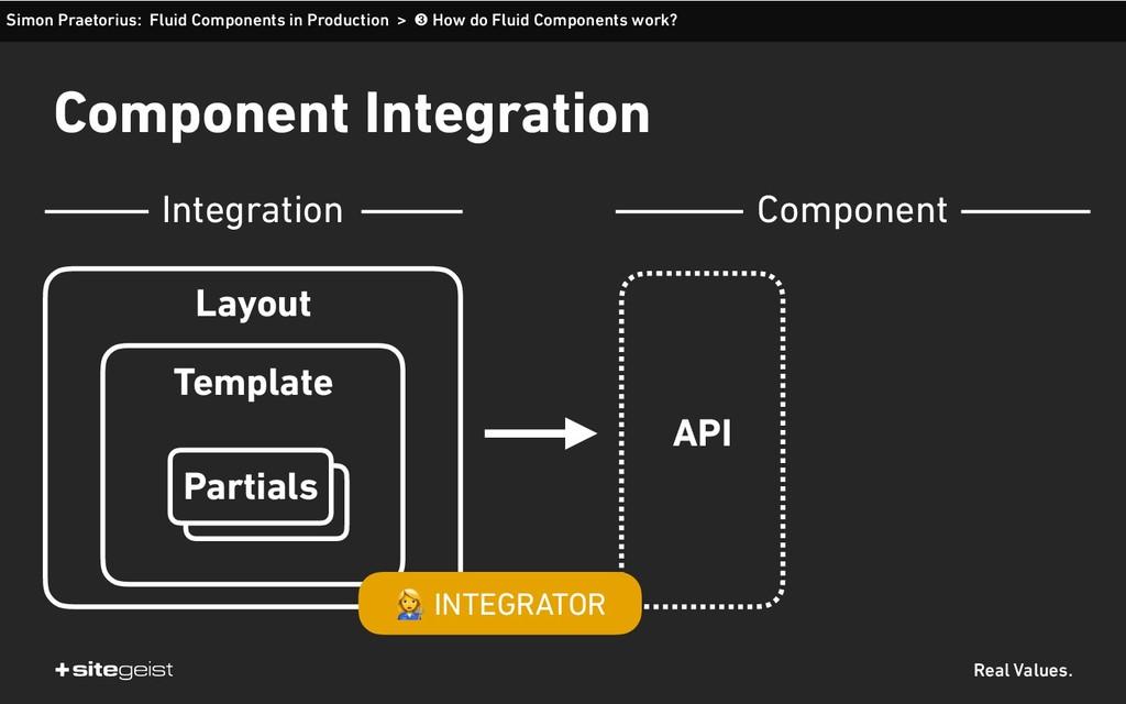 Real Values. Component Integration Simon Praeto...