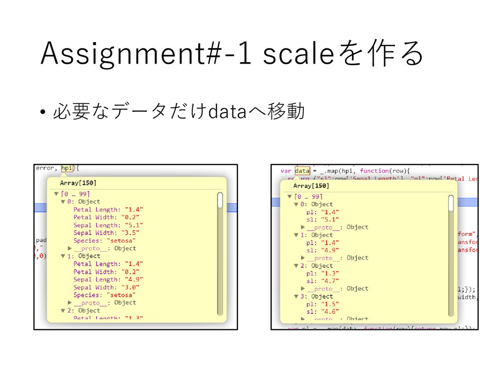 Assignment#-1 scaleを作る • 必要なデータだけdataへ移動