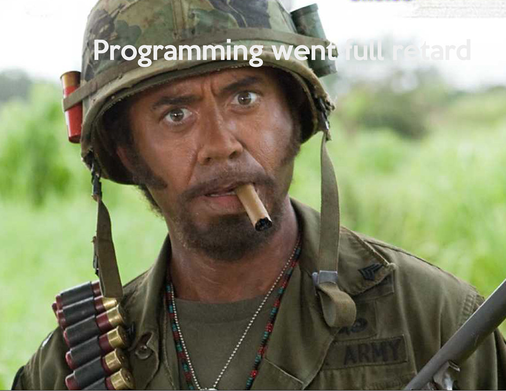 Programming went full retard