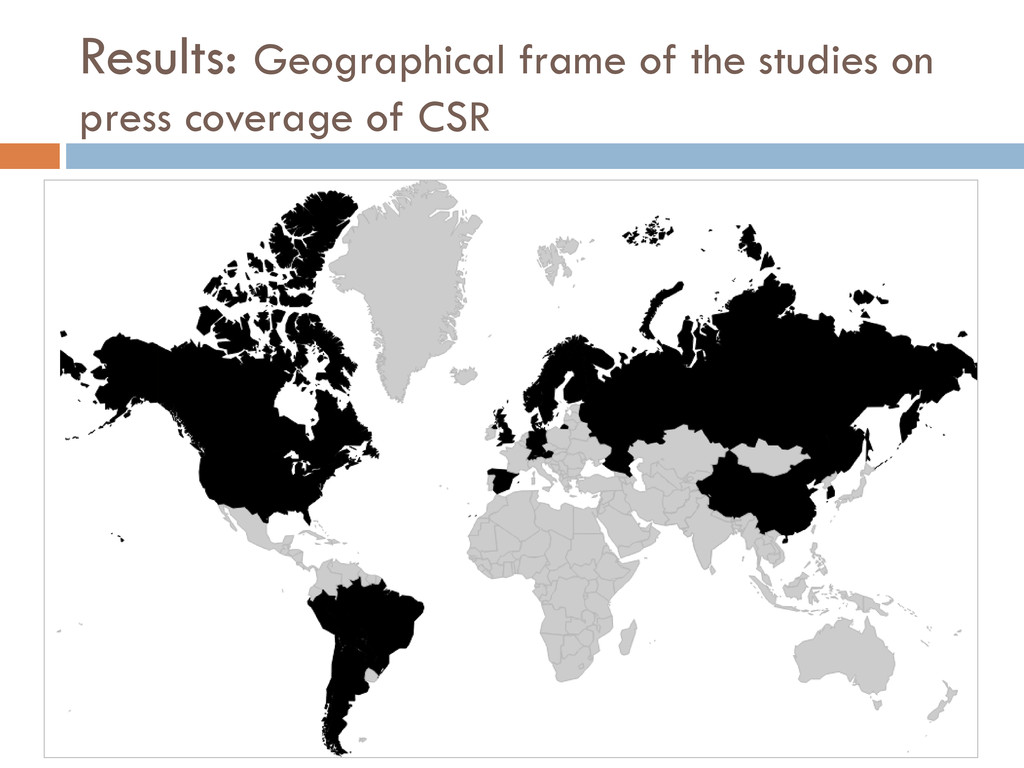 Results: Geographical frame of the studies on p...