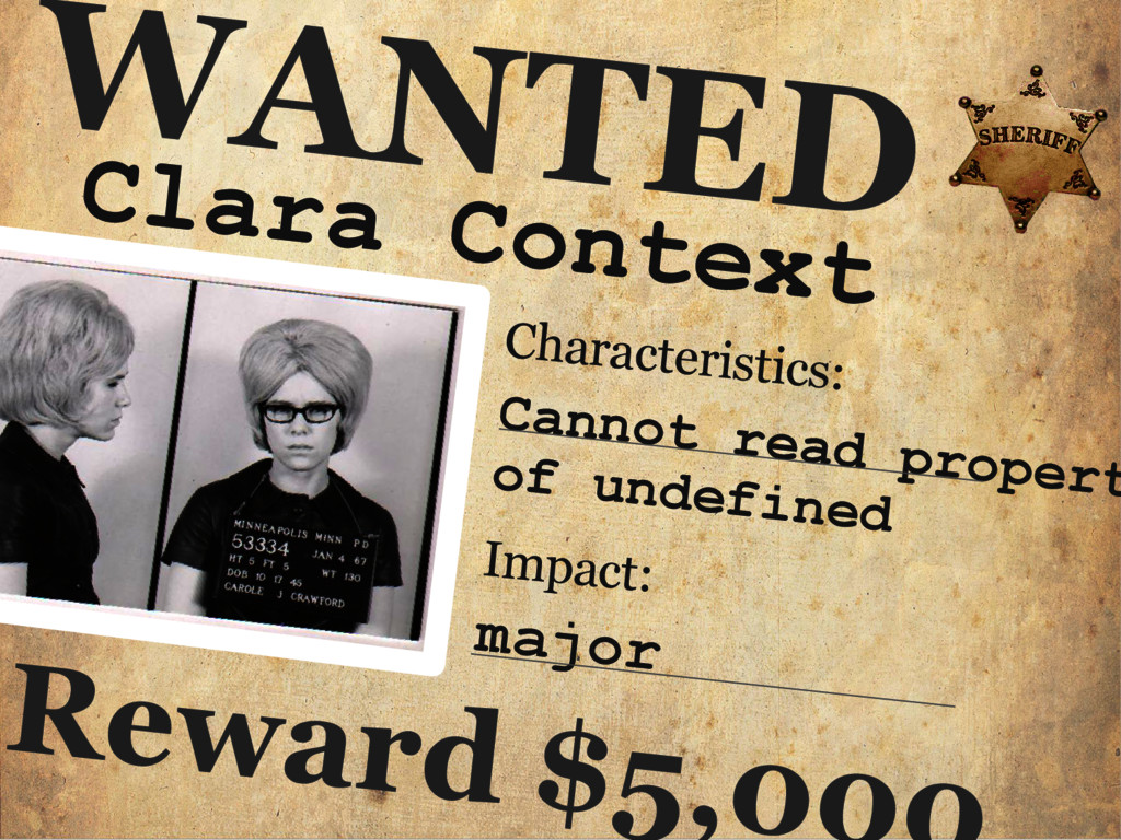 Clara Context WANTED Characteristics: Cannot re...