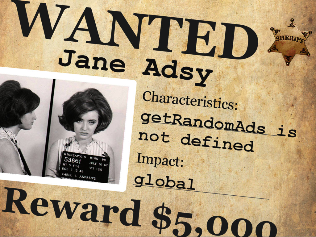 Jane Adsy WANTED Characteristics: getRandomAds ...