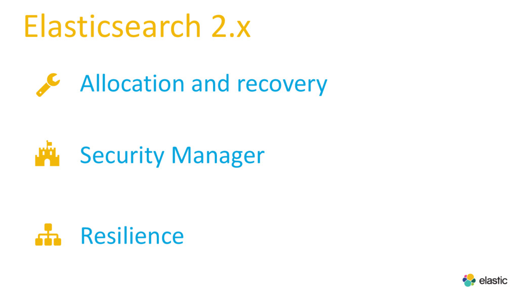 Elasticsearch 2.x Allocation and recovery