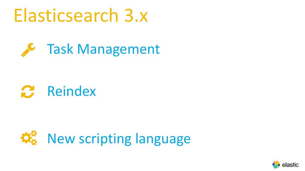 Elasticsearch 3.x Task Management Reindex New ...