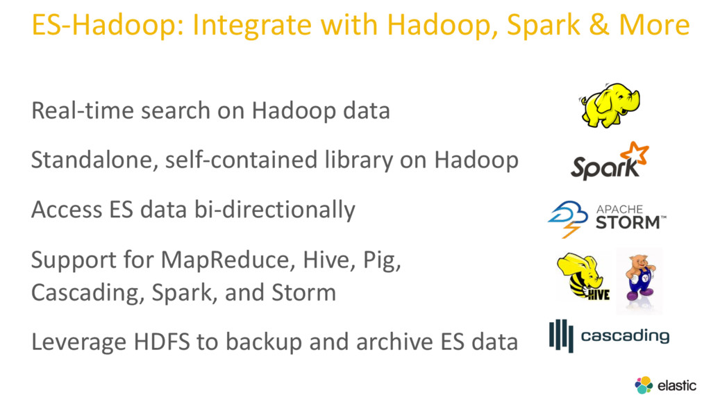 ES-Hadoop: Integrate with Hadoop, Spark & More ...