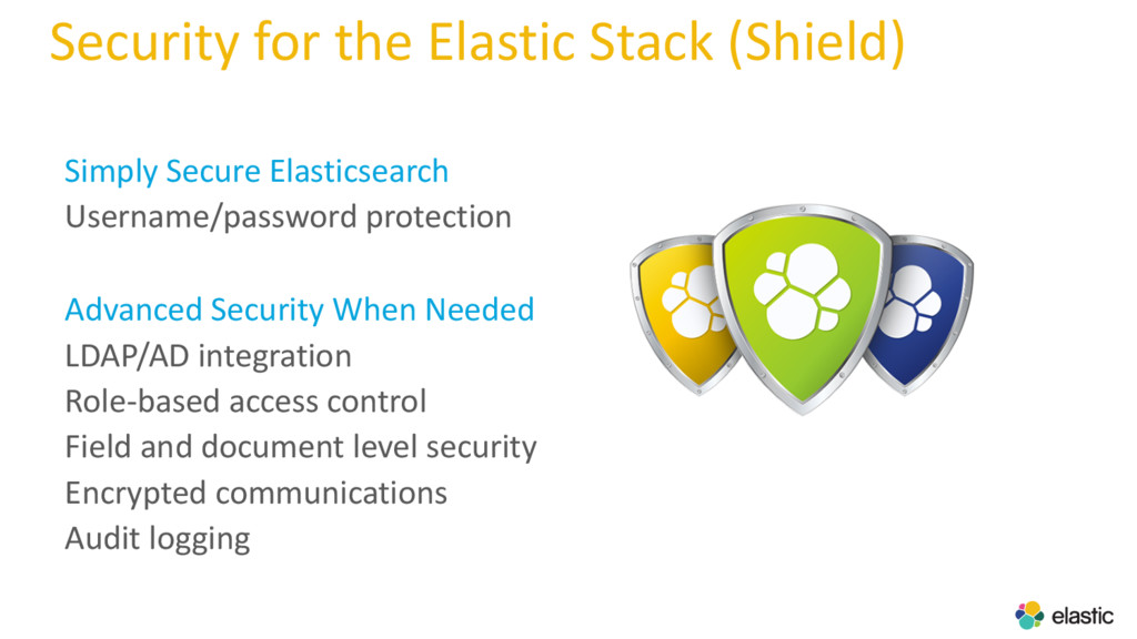Security for the Elastic Stack (Shield) Simply ...