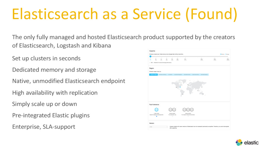 Elasticsearch as a Service (Found) The only ful...