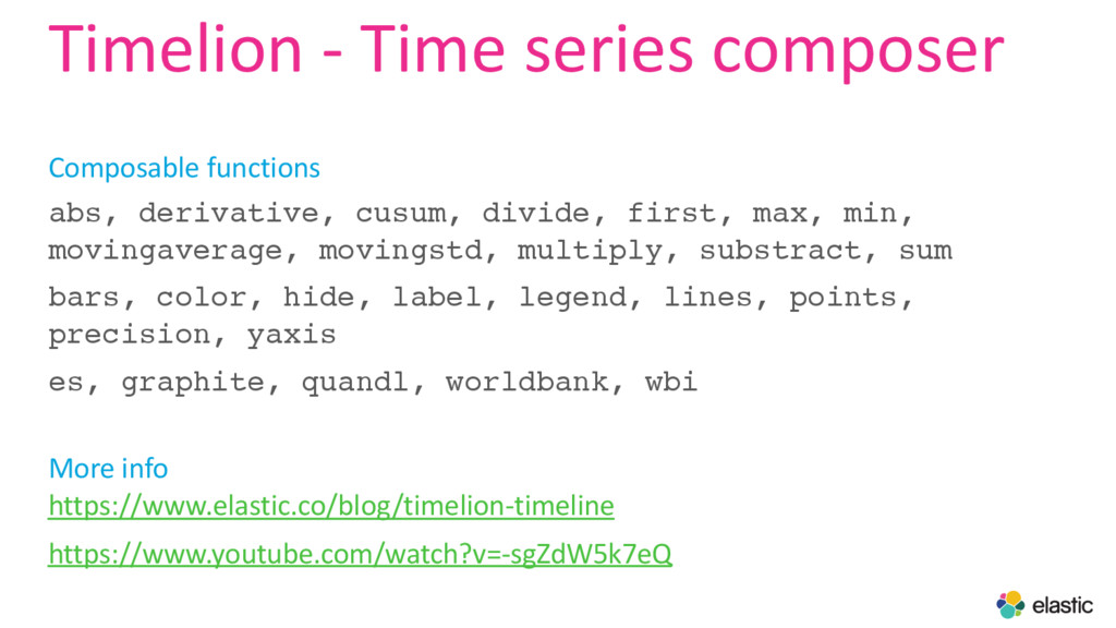 Timelion - Time series composer Composable func...