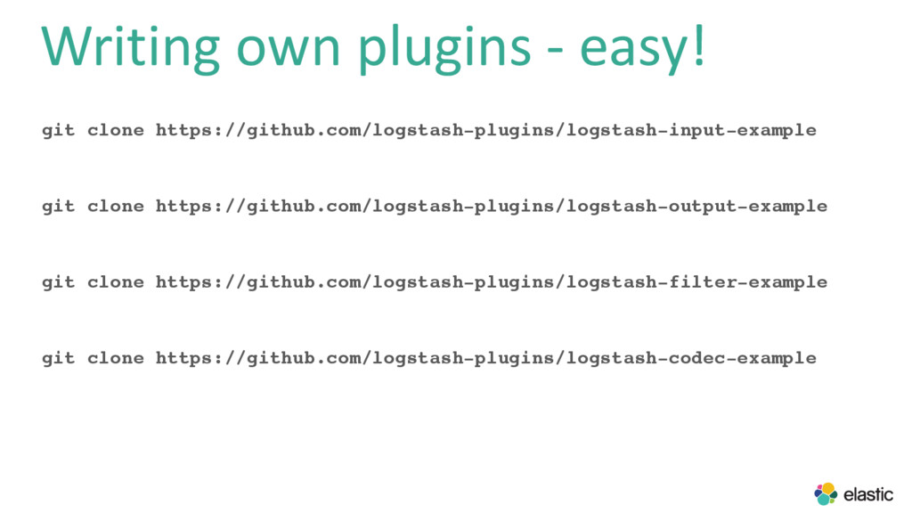 Writing own plugins - easy! git clone https://g...