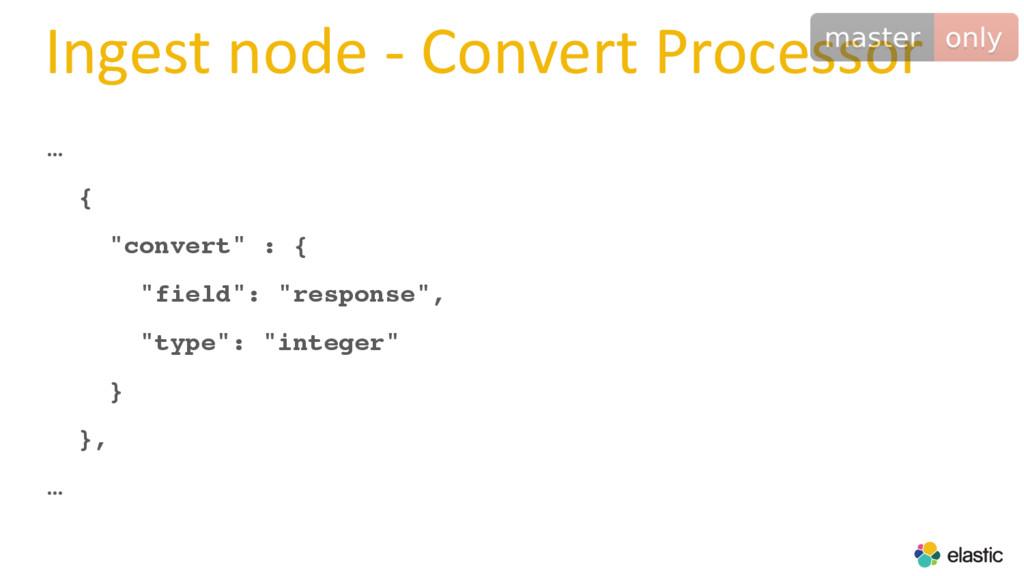 "Ingest node - Convert Processor … { ""convert"" :..."
