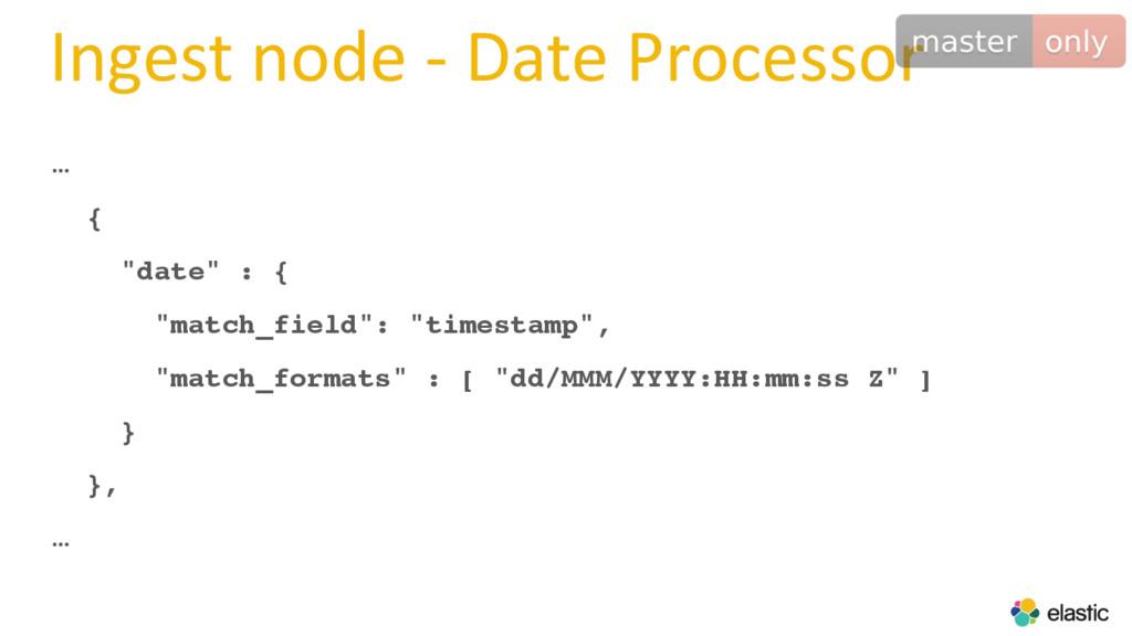 """Ingest node - Date Processor … { """"date"""" : { """"ma..."""