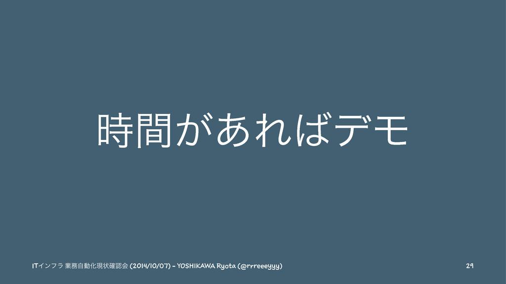 ͕ؒ͋ΕσϞ ITΠϯϑϥ ۀࣗಈԽݱঢ়֬ձ (2014/10/07) - YOSHI...