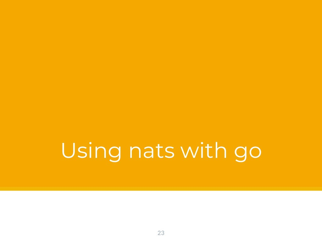 Using nats with go 23