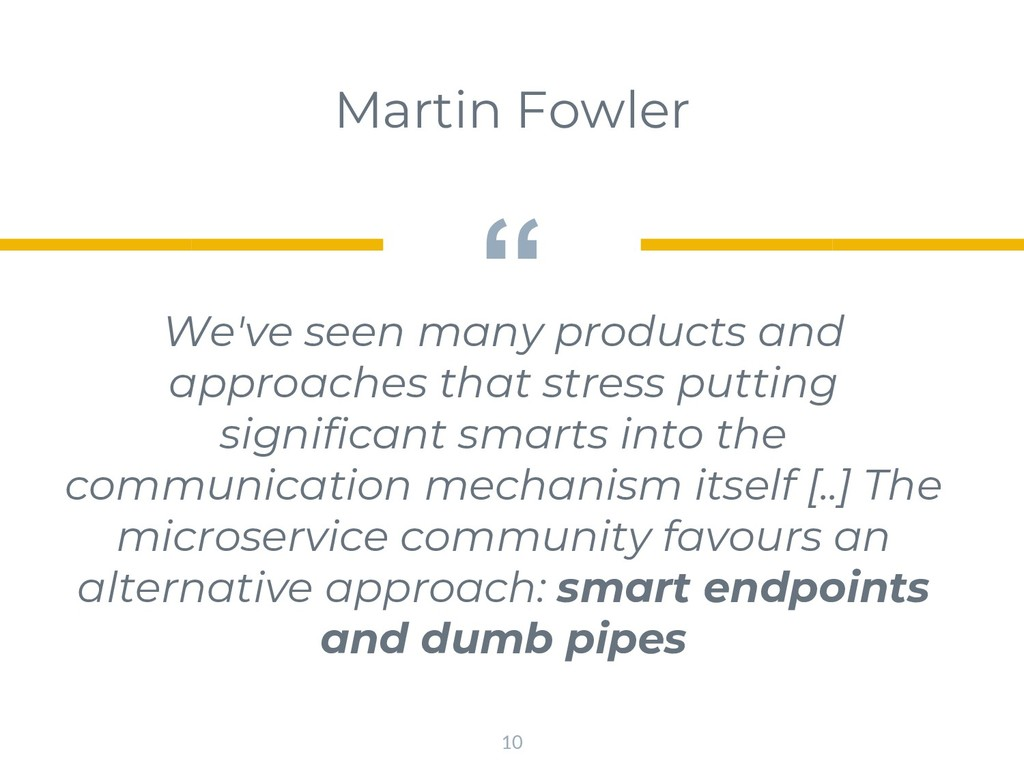 """"""" We've seen many products and approaches that ..."""