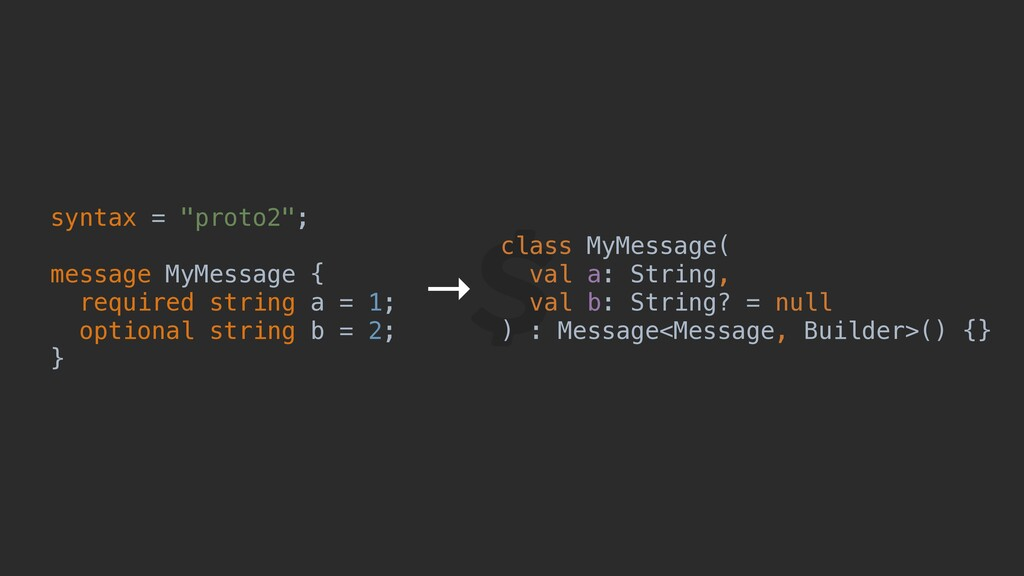 "syntax = ""proto2""; message MyMessage { required..."