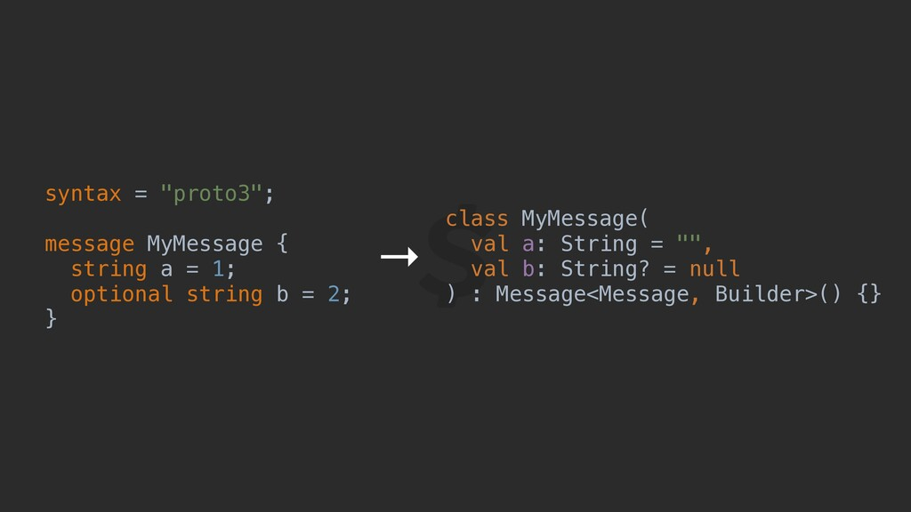 "syntax = ""proto3""; message MyMessage { string a..."