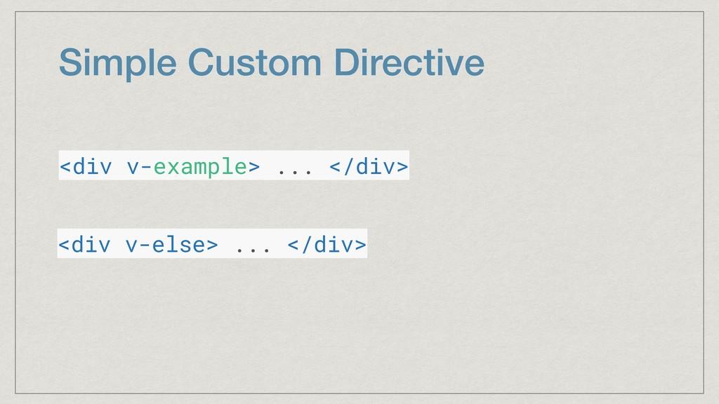 Simple Custom Directive <div v-example> ... </d...