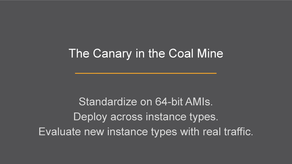 The Canary in the Coal Mine Standardize on 64-b...