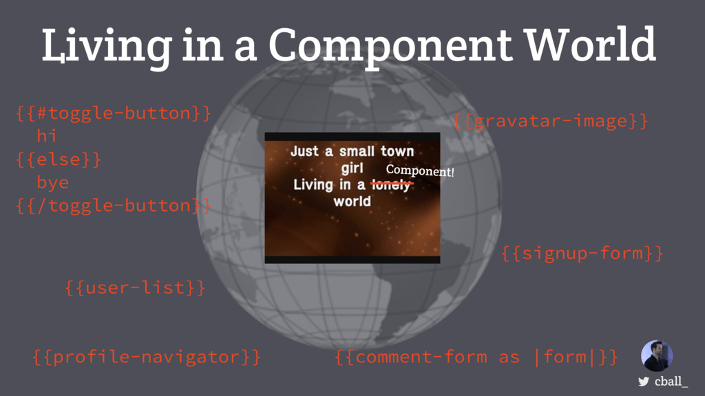 Living in a Component World cball_ {{user-list}...