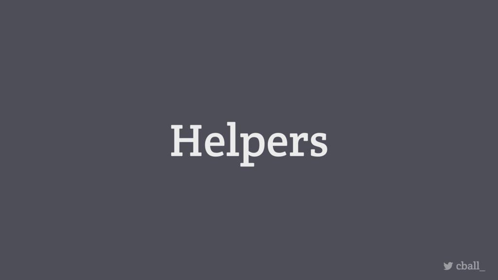 Helpers cball_