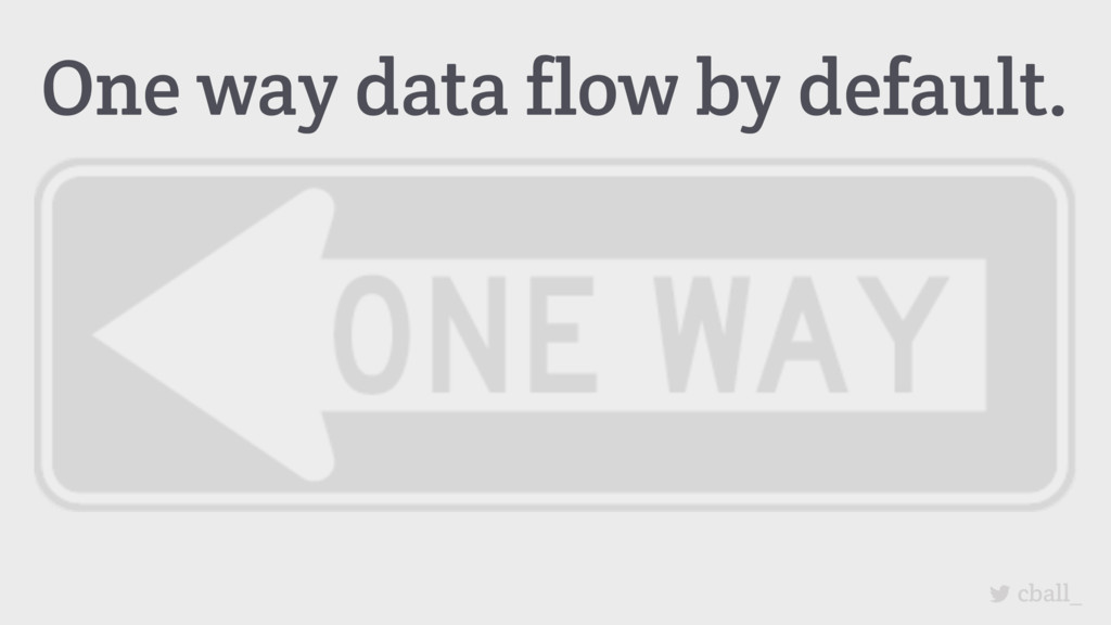 cball_ One way data flow by default.
