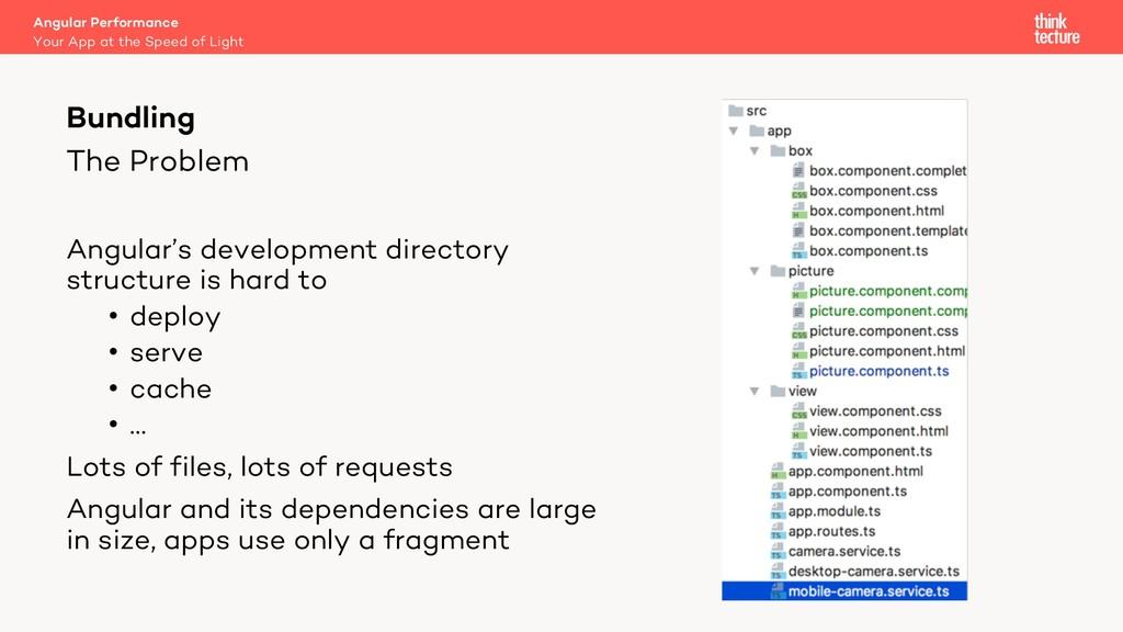 The Problem Angular's development directory str...