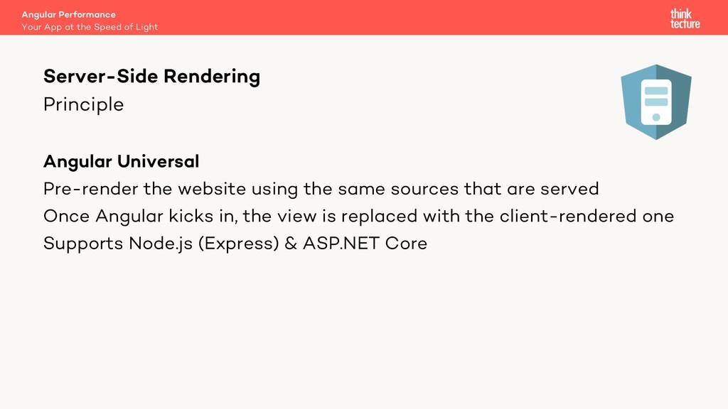 Principle Angular Universal Pre-render the webs...