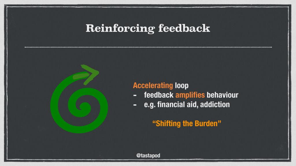 @tastapod Reinforcing feedback Accelerating loo...