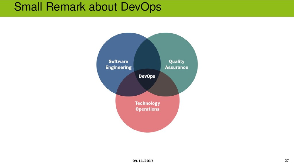 09.11.2017 37 Small Remark about DevOps