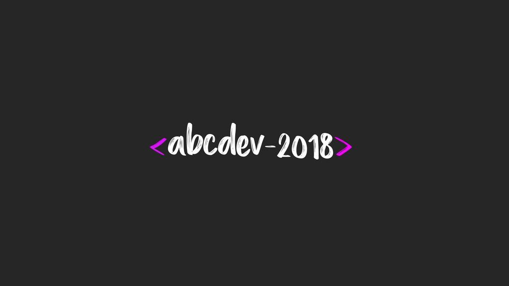 <abcdev-2018>