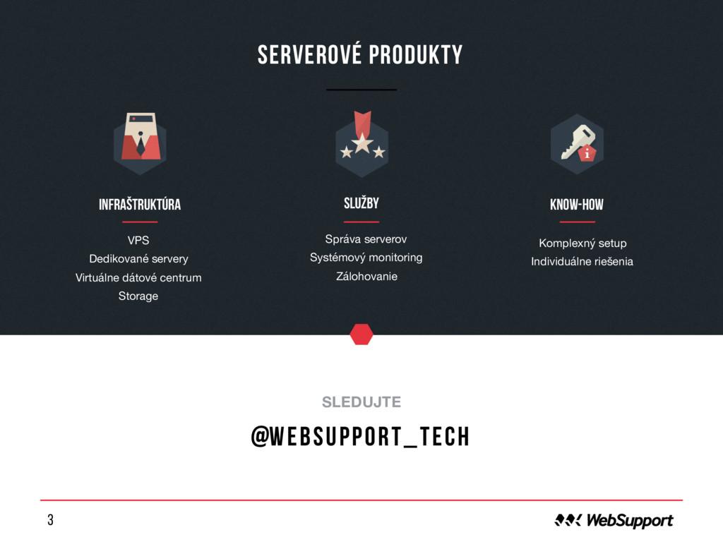 3 Serverové produkty o SLEDUJTE @websupport_tec...