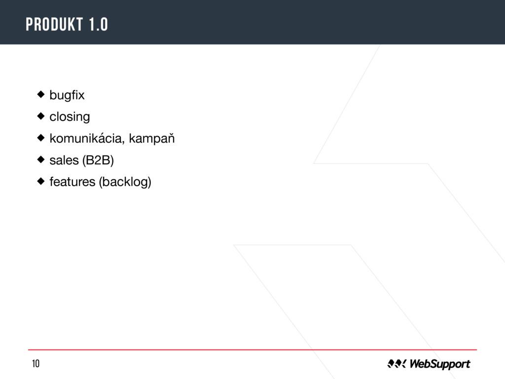 10 Produkt 1.0 bugfix  closing  komunikácia, kam...