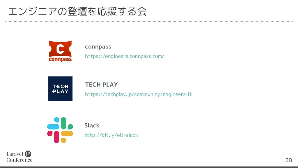 Laravel Conference JP 38 エンジニアの登壇を応援する会 connpas...