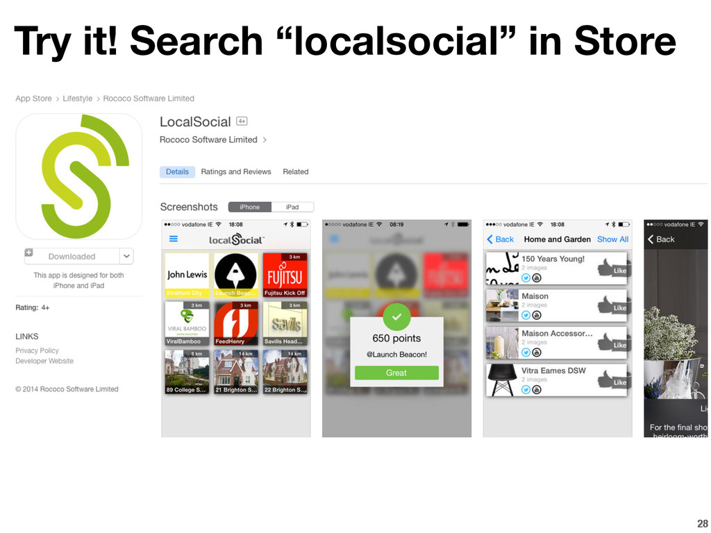 """28 Try it! Search """"localsocial"""" in Store"""