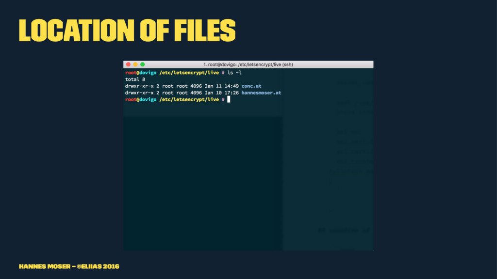 Location of files Hannes Moser – @eliias 2016
