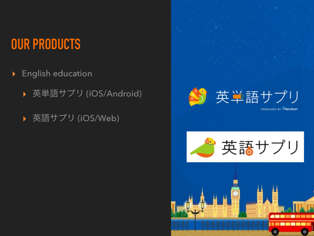 OUR PRODUCTS ▸ English education ▸ ӳ୯ޠαϓϦ (iOS/...