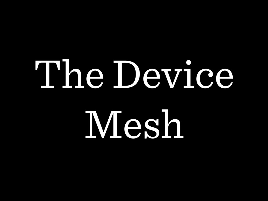 The Device Mesh
